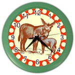 Donkey 9 Color Wall Clock