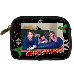 Christmas By Wood Johnson   Digital Camera Leather Case   Bkwhuj7aii6f   Www Artscow Com Front