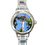 Space Needle Round Italian Charm Watch