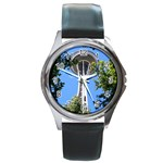 Space Needle Round Metal Watch