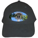 Space Needle Black Cap