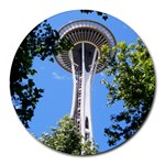 Space Needle Round Mousepad