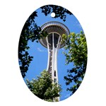 Space Needle Ornament (Oval)