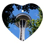 Space Needle Ornament (Heart)