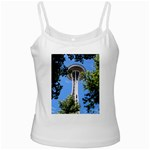 Space Needle White Spaghetti Tank