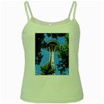 Space Needle Green Spaghetti Tank