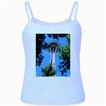 Space Needle Baby Blue Spaghetti Tank