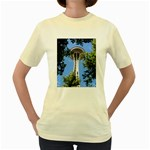 Space Needle Women s Yellow T-Shirt