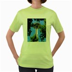 Space Needle Women s Green T-Shirt