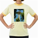 Space Needle Women s Fitted Ringer T-Shirt