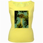Space Needle Women s Yellow Tank Top