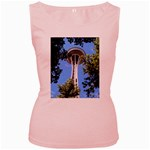 Space Needle Women s Pink Tank Top