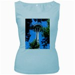 Space Needle Women s Baby Blue Tank Top