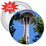 Space Needle 3  Button (100 pack)