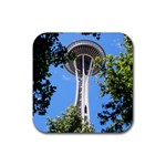 Space Needle Rubber Coaster (Square)