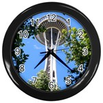 Space Needle Wall Clock (Black)