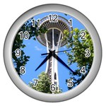 Space Needle Wall Clock (Silver)