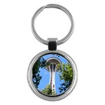 Space Needle Key Chain (Round)