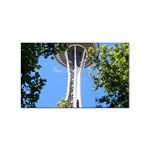 Space Needle Sticker (Rectangular)