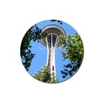 Space Needle Magnet 3  (Round)