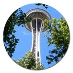 Space Needle Magnet 5  (Round)