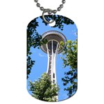 Space Needle Dog Tag (One Side)