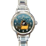 Great wall Round Italian Charm Watch