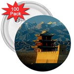 Great wall 3  Button (100 pack)