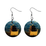 Great wall 1  Button Earrings