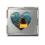 Great wall Mega Link Heart Italian Charm (18mm)