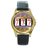 JACKPOTWINNER800X603 Round Gold Metal Watch
