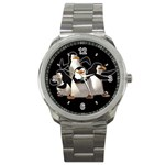 CUTE MADAGASCAR PENGUIN UNISEX SPORT WATCH