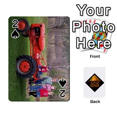 B Tractor Cards By Diana   Playing Cards 54 Designs   Zjrv7udrwwgm   Www Artscow Com Front - Spade2