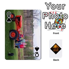 Queen B Tractor Cards By Diana   Playing Cards 54 Designs   Zjrv7udrwwgm   Www Artscow Com Front - SpadeQ