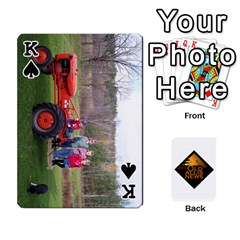 King B Tractor Cards By Diana   Playing Cards 54 Designs   Zjrv7udrwwgm   Www Artscow Com Front - SpadeK