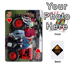 Jack B Tractor Cards By Diana   Playing Cards 54 Designs   Zjrv7udrwwgm   Www Artscow Com Front - HeartJ