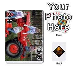 B Tractor Cards By Diana   Playing Cards 54 Designs   Zjrv7udrwwgm   Www Artscow Com Front - Club2