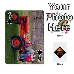 B Tractor Cards By Diana   Playing Cards 54 Designs   Zjrv7udrwwgm   Www Artscow Com Front - Spade6