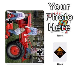 B Tractor Cards By Diana   Playing Cards 54 Designs   Zjrv7udrwwgm   Www Artscow Com Front - Club7