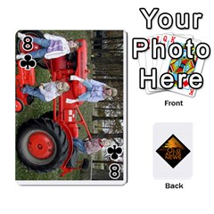 B Tractor Cards By Diana   Playing Cards 54 Designs   Zjrv7udrwwgm   Www Artscow Com Front - Club8
