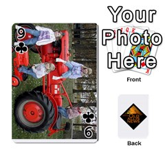 B Tractor Cards By Diana   Playing Cards 54 Designs   Zjrv7udrwwgm   Www Artscow Com Front - Club9