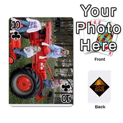 B Tractor Cards By Diana   Playing Cards 54 Designs   Zjrv7udrwwgm   Www Artscow Com Front - Club10