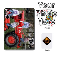 Jack B Tractor Cards By Diana   Playing Cards 54 Designs   Zjrv7udrwwgm   Www Artscow Com Front - ClubJ
