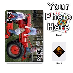 King B Tractor Cards By Diana   Playing Cards 54 Designs   Zjrv7udrwwgm   Www Artscow Com Front - ClubK