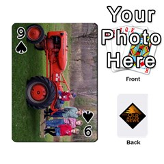 B Tractor Cards By Diana   Playing Cards 54 Designs   Zjrv7udrwwgm   Www Artscow Com Front - Spade9