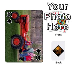 B Tractor Cards By Diana   Playing Cards 54 Designs   Zjrv7udrwwgm   Www Artscow Com Front - Spade10