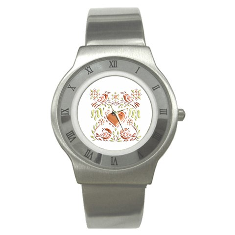 All Of My Heart Watch By Catvinnat   Stainless Steel Watch   9v2jzg456r1w   Www Artscow Com Front