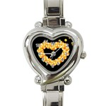Floral Heart Valentine Watch - Heart Italian Charm Watch