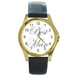 Best Man Watch - Round Gold Metal Watch