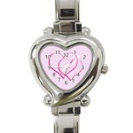 2 hearts valentines watch - Heart Italian Charm Watch